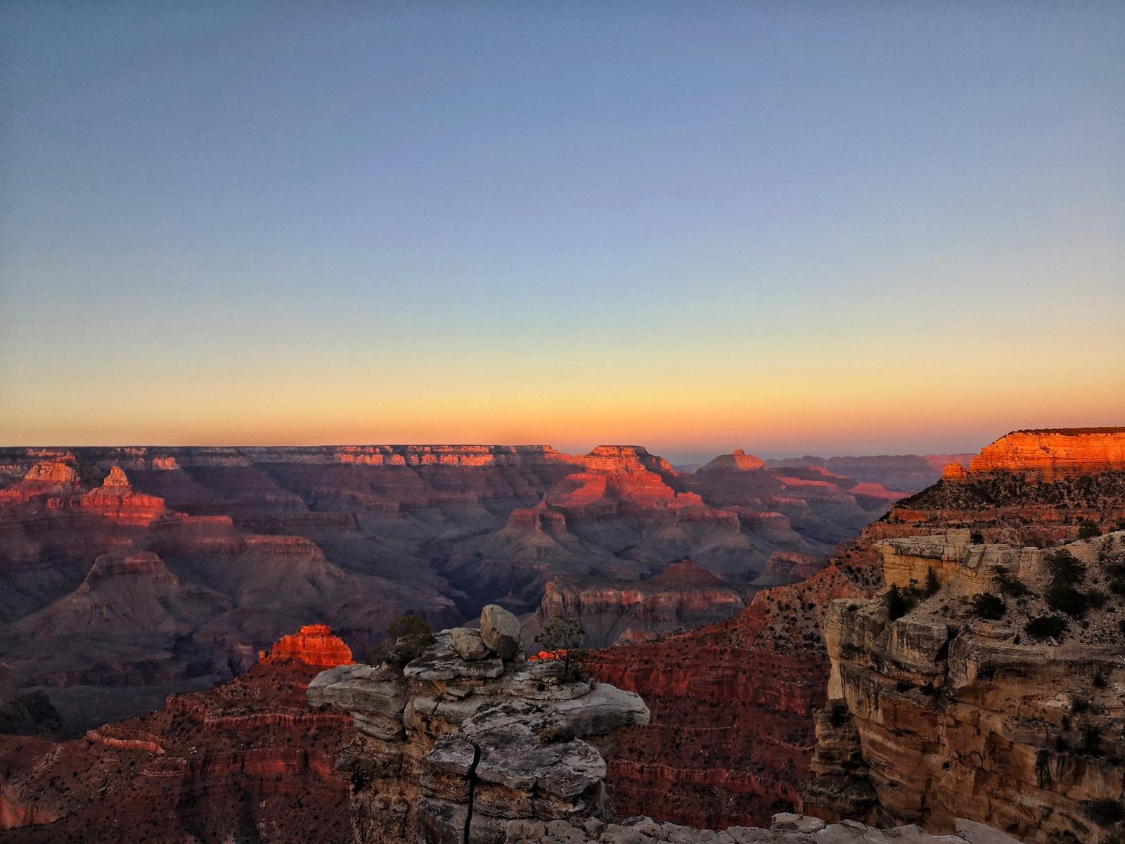 Grand Canyon at dawn, illustrating one of our nature photography tips.