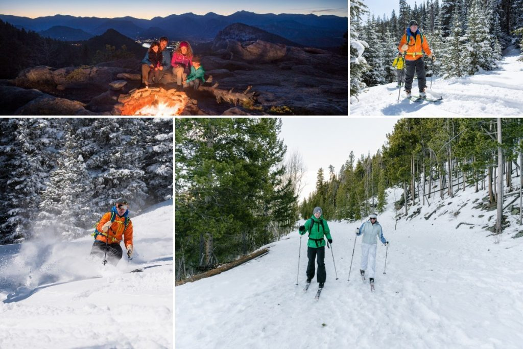 Collage of skiiers