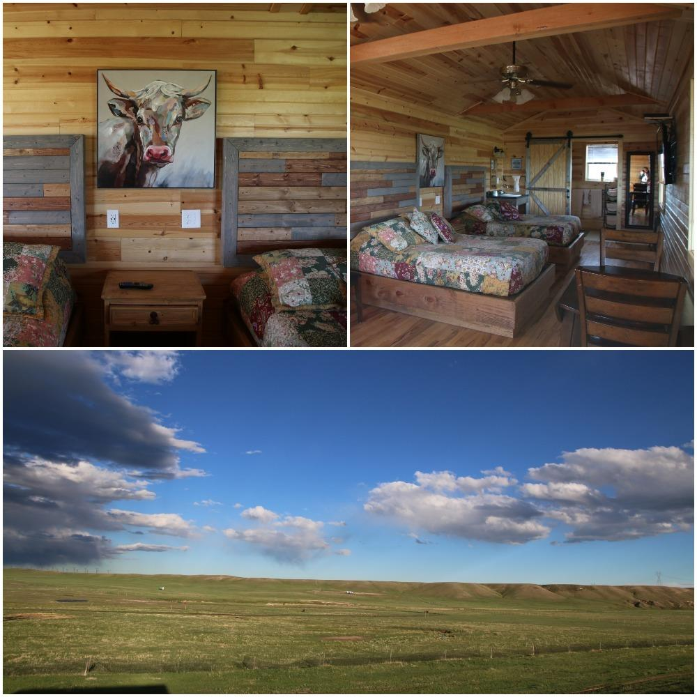 terry bison ranch, cabin, where to stay cheyenne wyoming