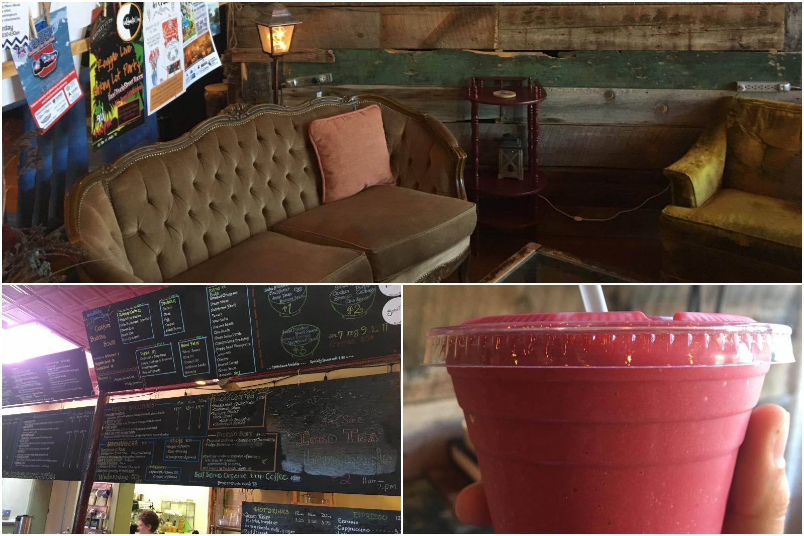 Enjoy a smoothie at the Juicery restaurant in Lander Wyoming