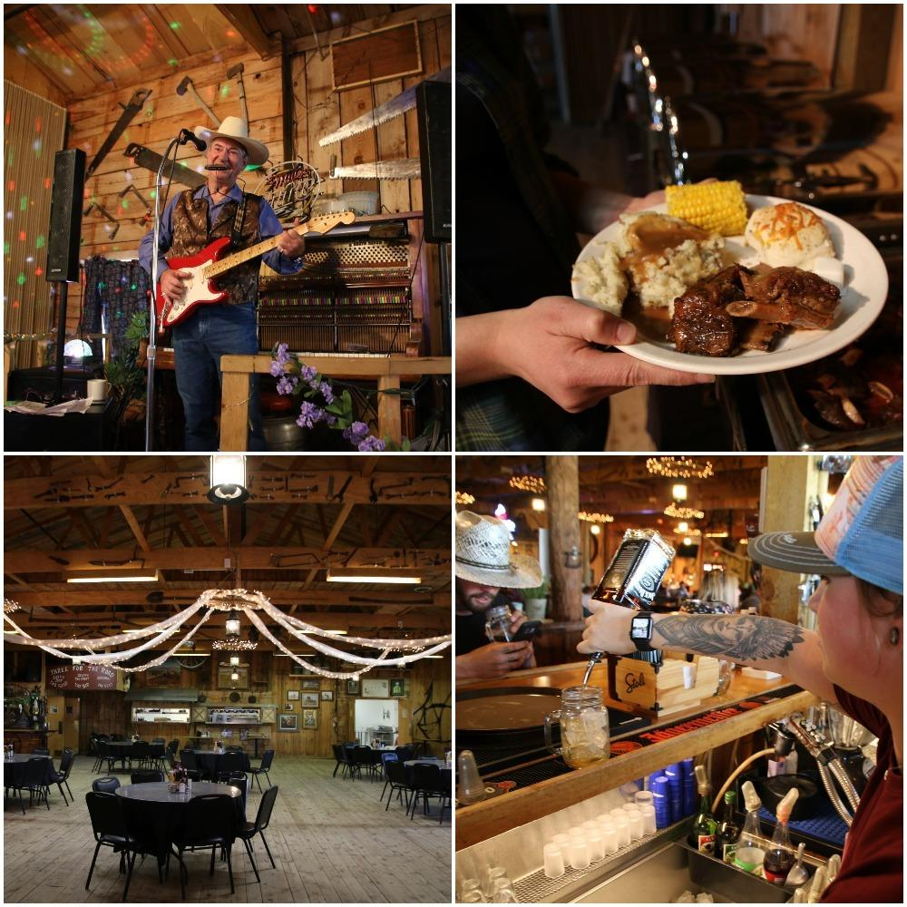 dinner, senator's restaurant, bbq, bison ribs,