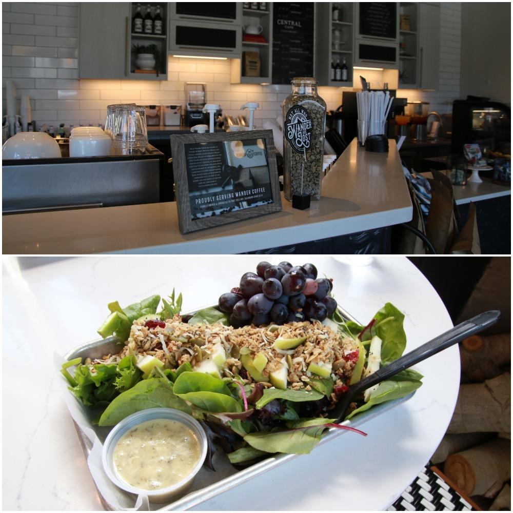 lunch, salad, central cafe, cheyenne