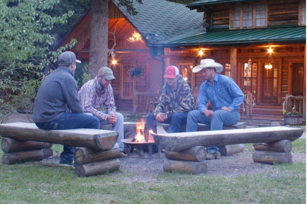 Lodges of East Yellowstone - cowboy campfire
