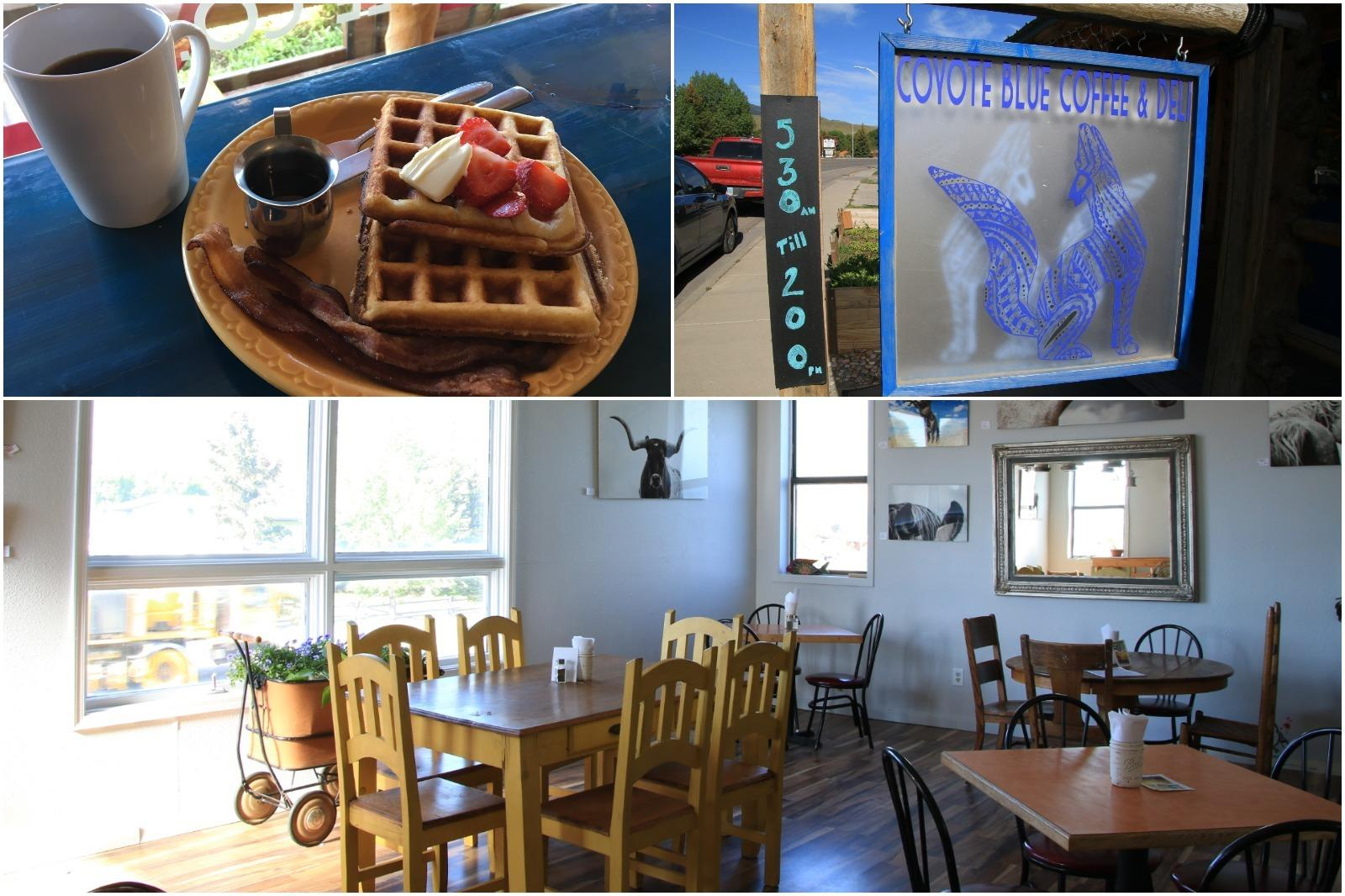 Breakfast at the Coyote Blue Cafe in Dubois Wyoming