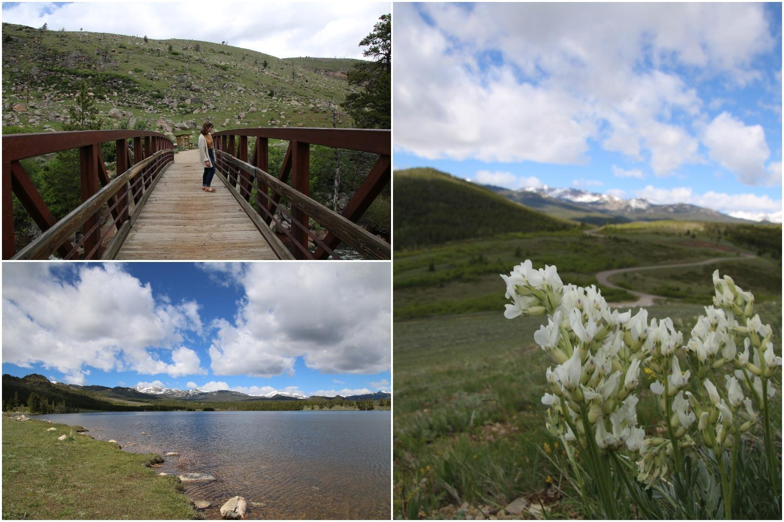 Enjoy hiking around the alpine lakes on the Loop Road in Wyoming