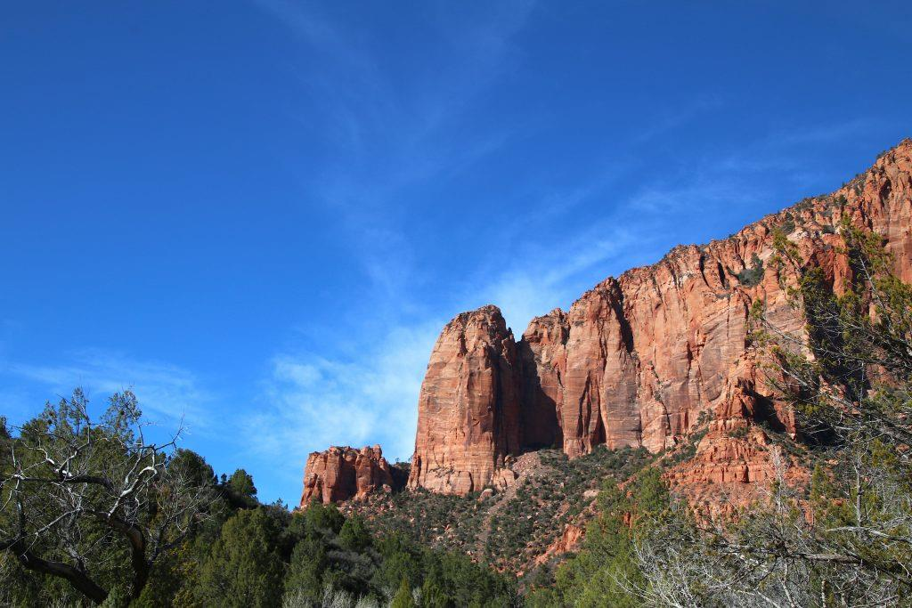 Kolob Canyon, Kolob Canyons, hiking, Zion National Park, red cliffs, view points, camping in Zion