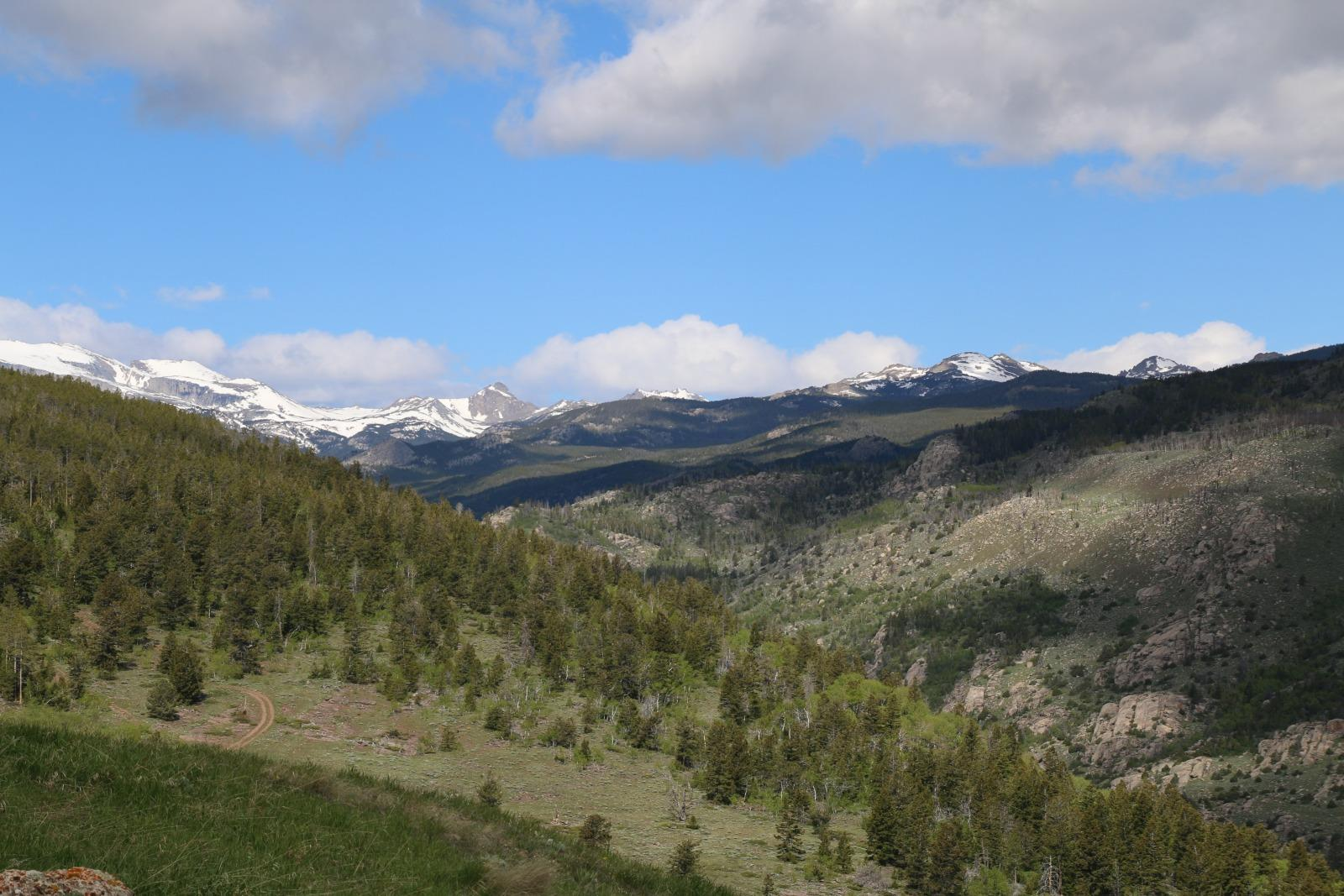 The wind river range view from the loop road in lander