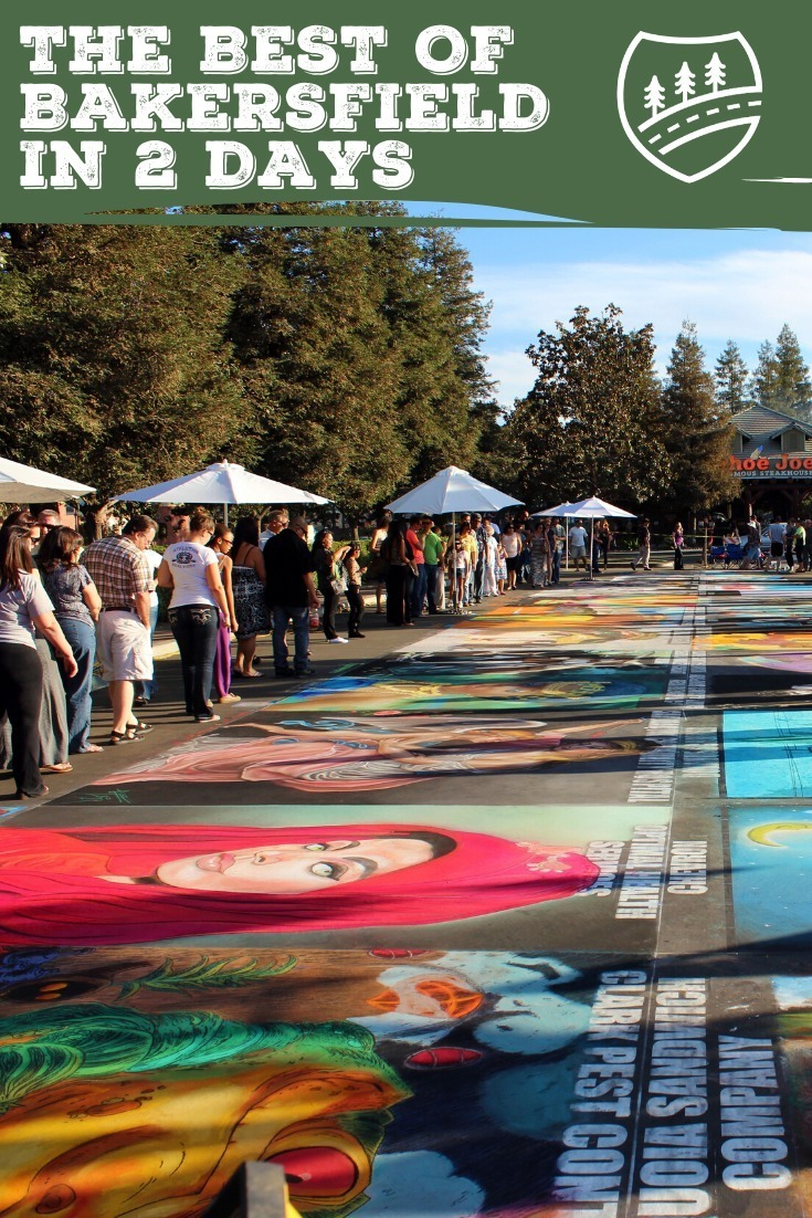 Pinterest Pin with street art photo for Bakersfield, California