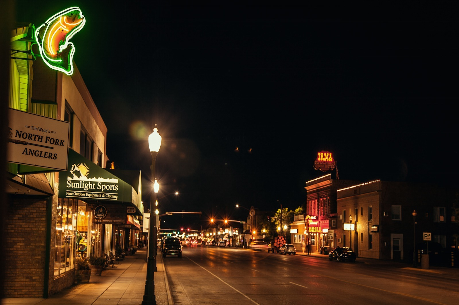 Main Street Cody, Wyoming for grand American adventures