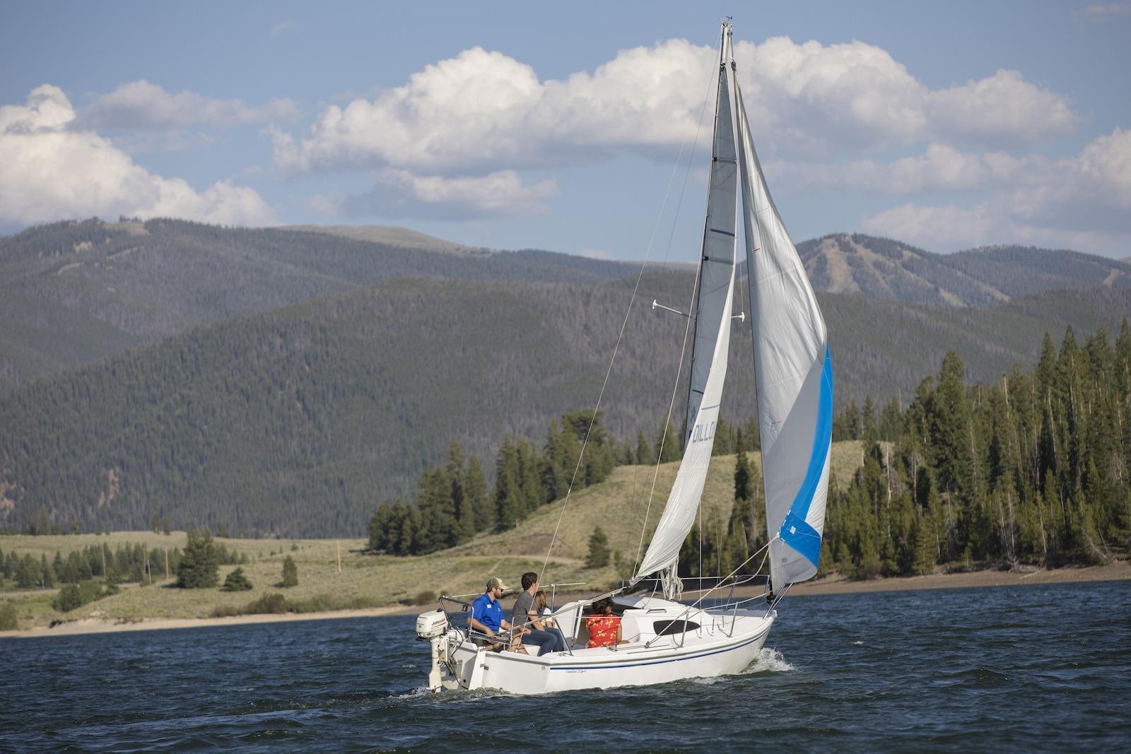 sailing on Lake Dillon, Colorado
