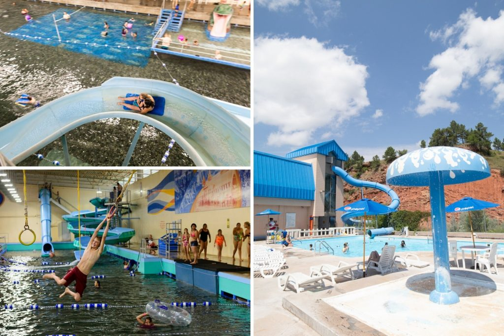 Evan's Plunge mineral spring in Hot Springs