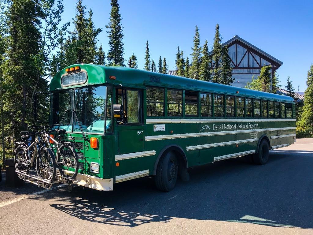 A bus near Denali National Park