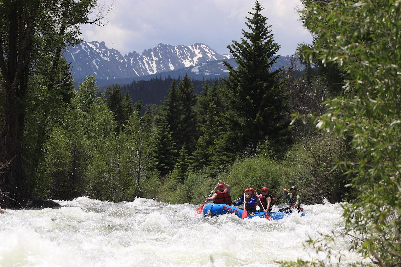 rafting the Blue River in Colorado