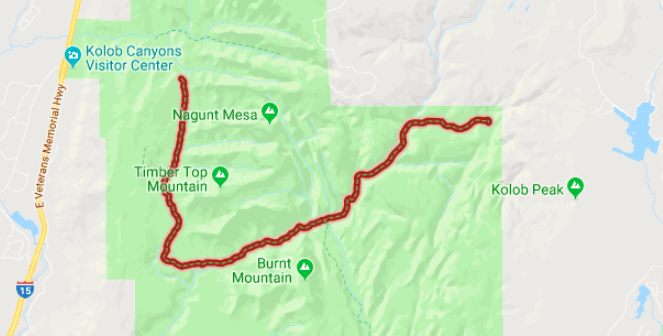 map, Kolob Canyons, national parks, hiking, least crowded hike in zion