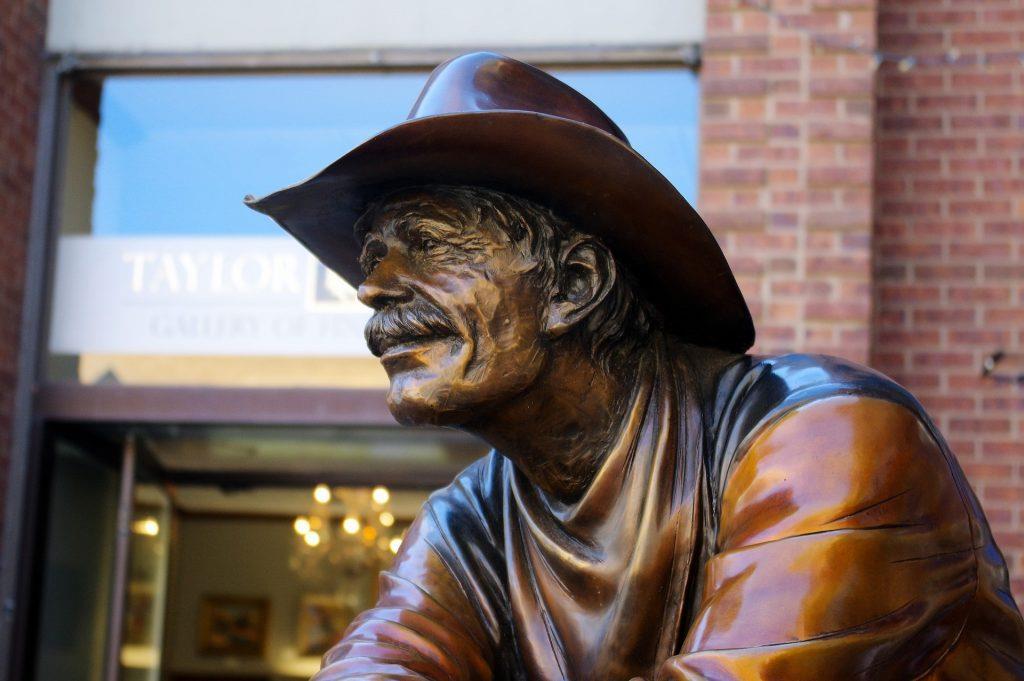 Statue of Old West Cowboy Durango Silverton Colorado
