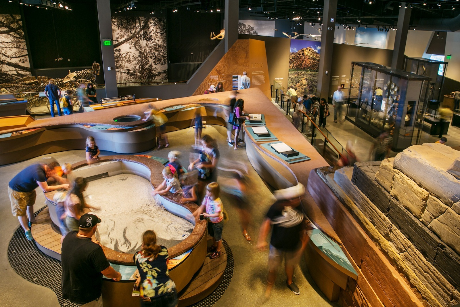 Exhibits at the Natural History Museum of Utah, one of Salt Lake City's attractions