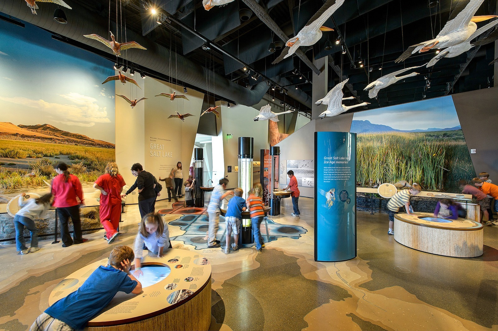 The Great Salt Lake Exhibit at the Natural History Museum of Utah in Salt Lake City