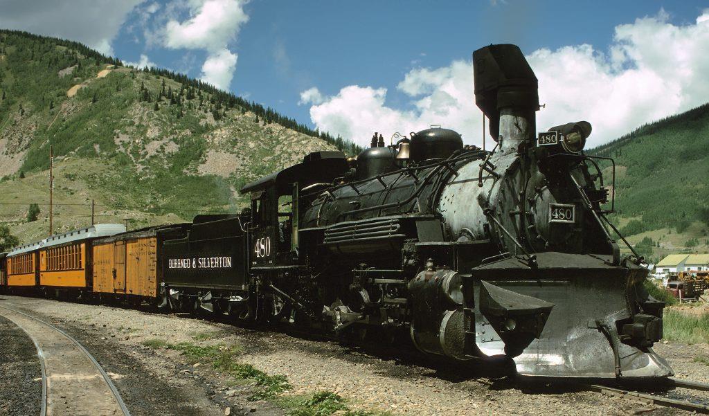 Train by Durango and Silverton Narrow Gauge Colorado
