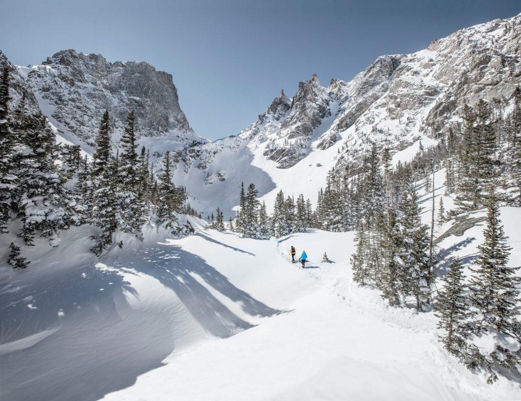 Snowshoeing estes park