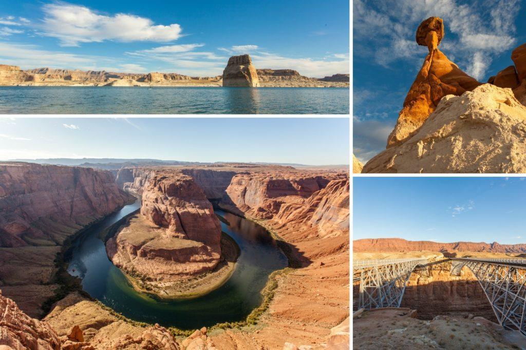 Lake Powell, Toadstool Hoodoos, Navajo Bridge, Horseshoe Bend