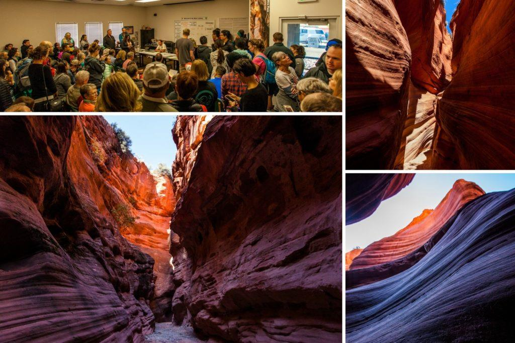 Wave lottery and Peekaboo Slot Canyon