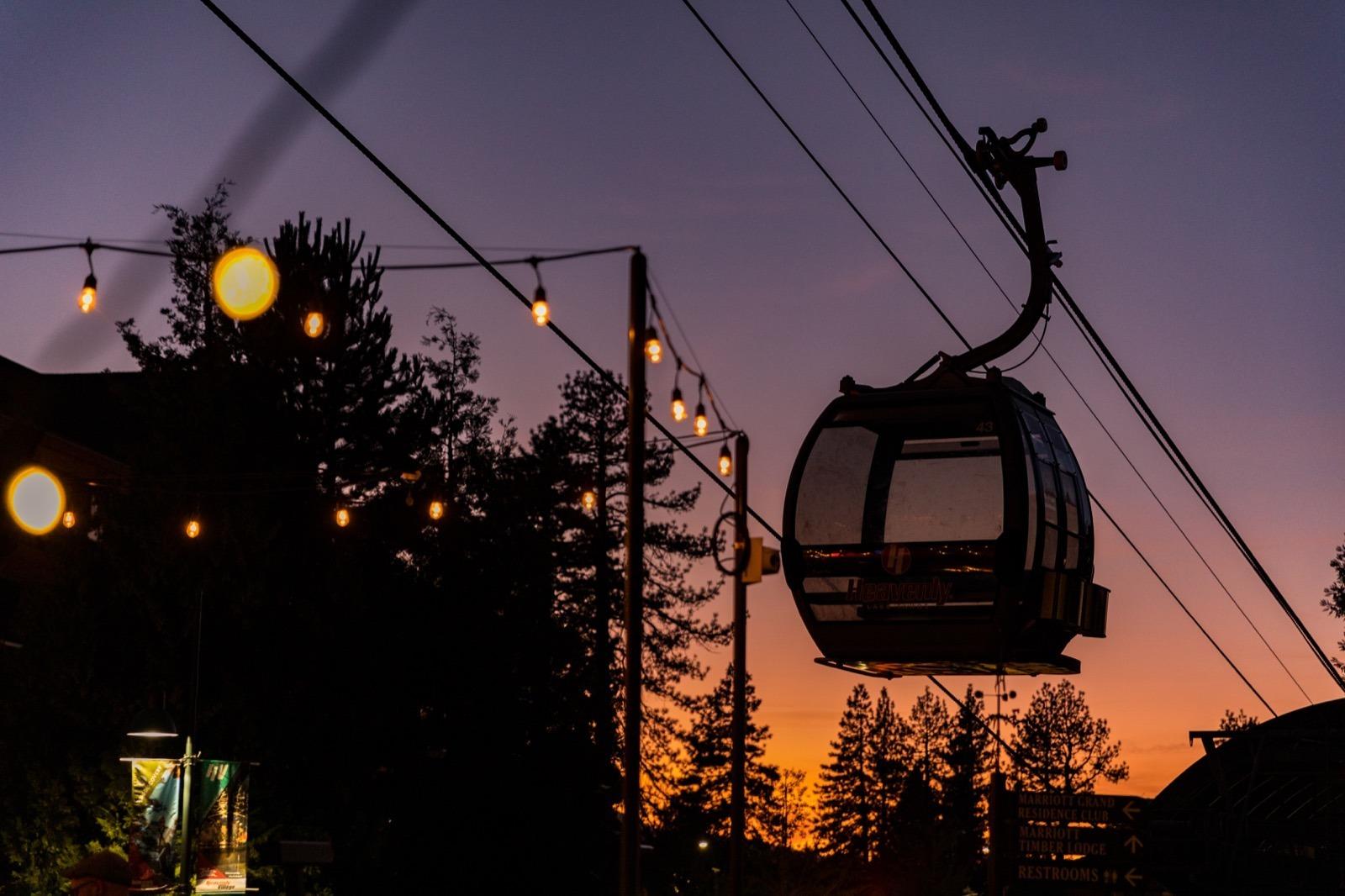 california-high-sierra-south-lake-tahoe-heavenly-village-gondola-sunset
