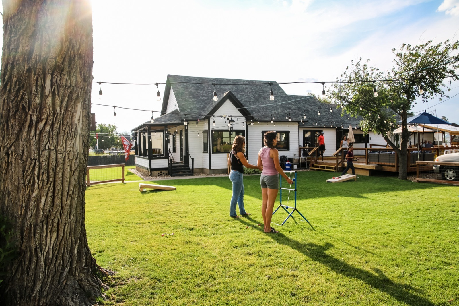 Firewater Public House is a great escape from reality, especially with yard games!