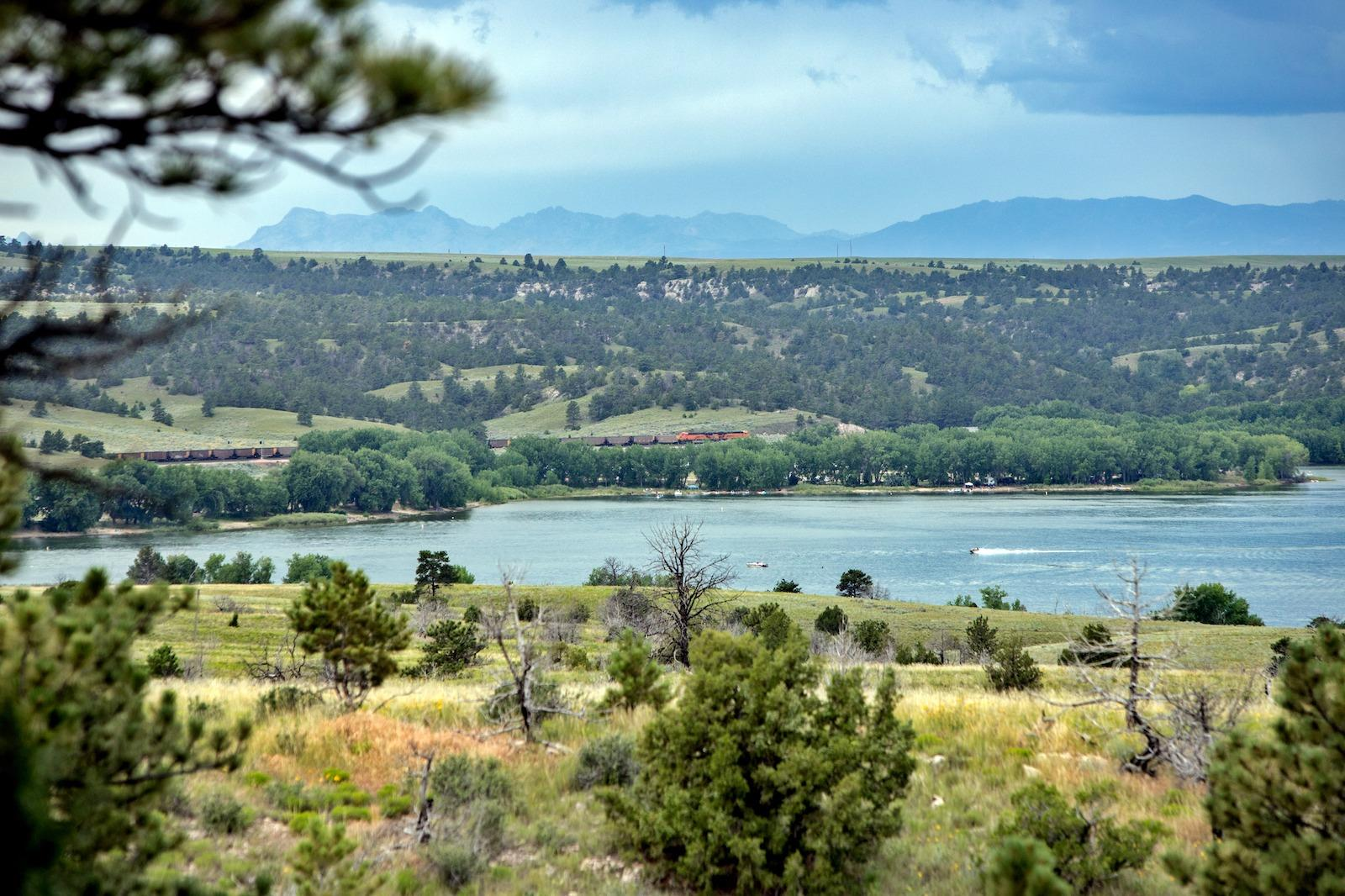 View over Guernsey State Park in Platte County, Wyoming, the perfect family vacation destination