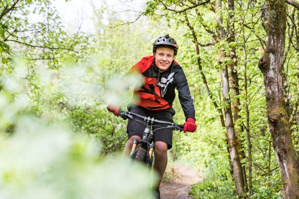 Mountain Biking on the City Creek Trail System in Pocatello, Idaho