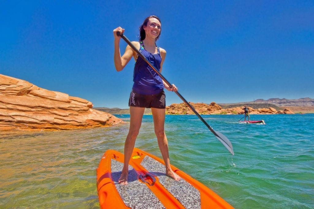 St. George Utah Paddleboarding Lake SUP