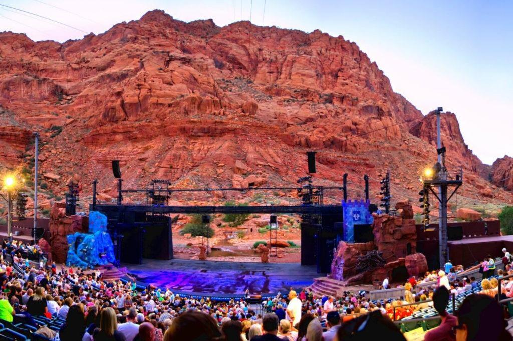 St. George Utah Tuachan Ampitheater Music Show