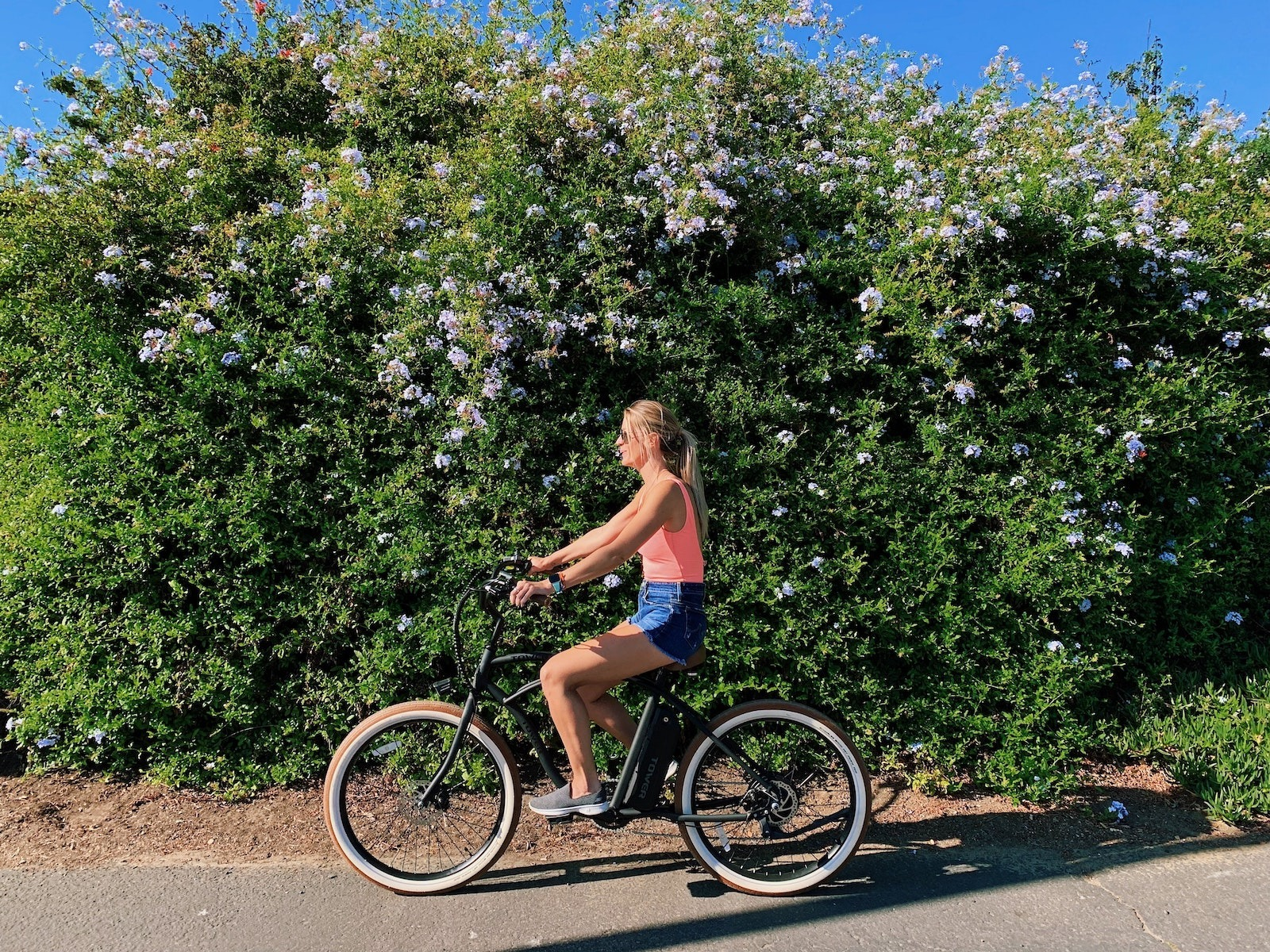 Girl Cruising on Bike
