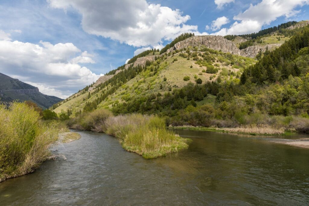 Views along the River Trail in Logan Canyon - Cache Valley, Utah