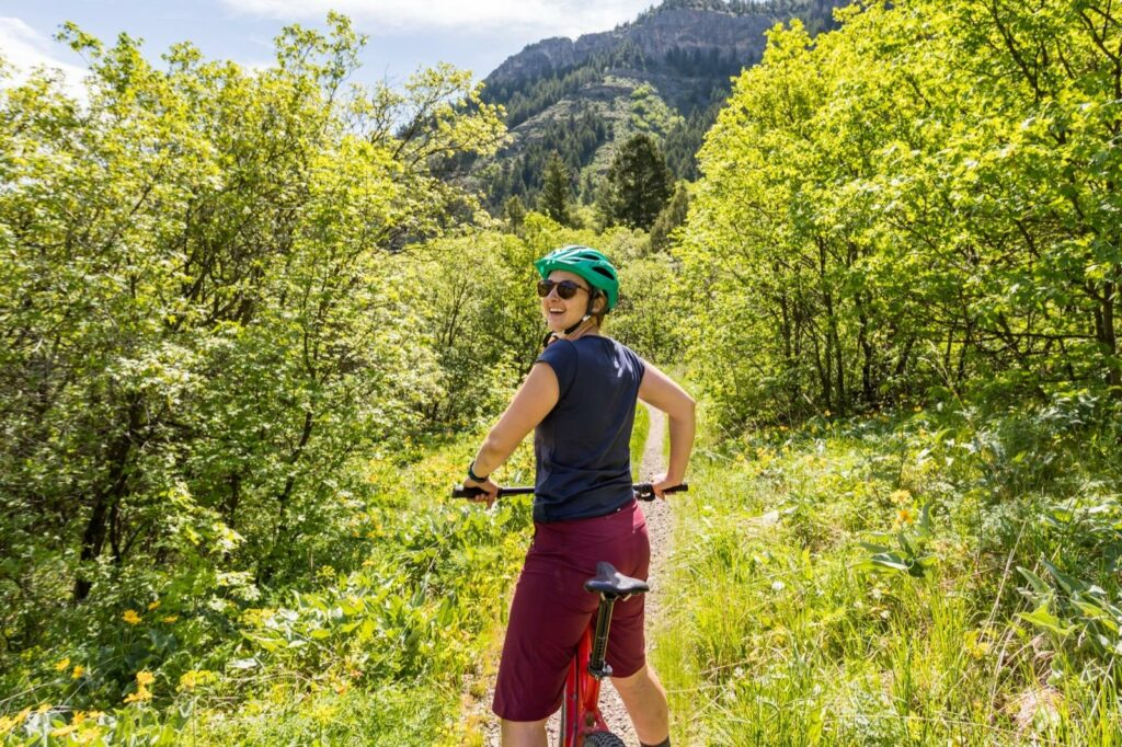 Biking on the River Trail - Cache Valley, Utah