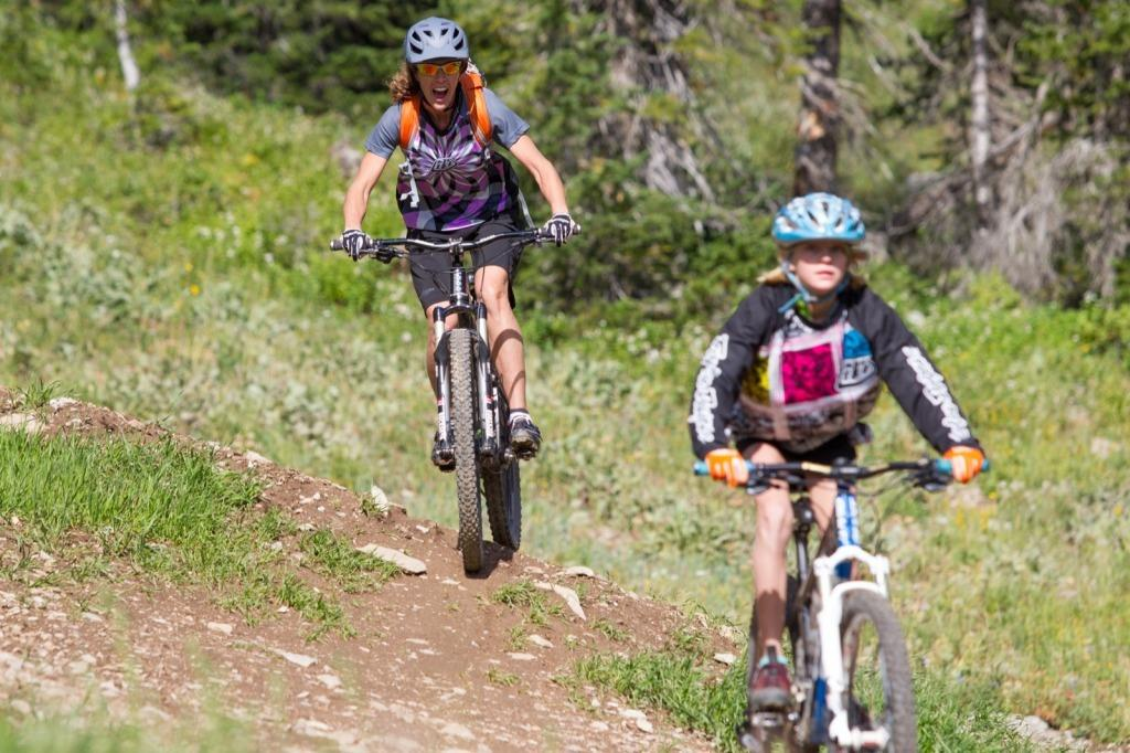 Grand Targhee Mountain Biking Family Bike Summer Resort Activity