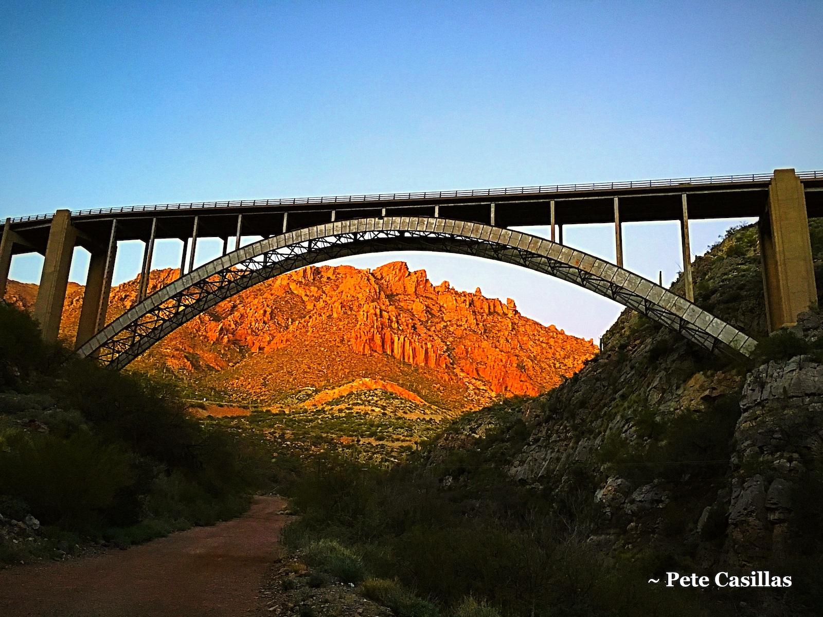 Bridge over Queen Creek. Photo by Pete Casillas
