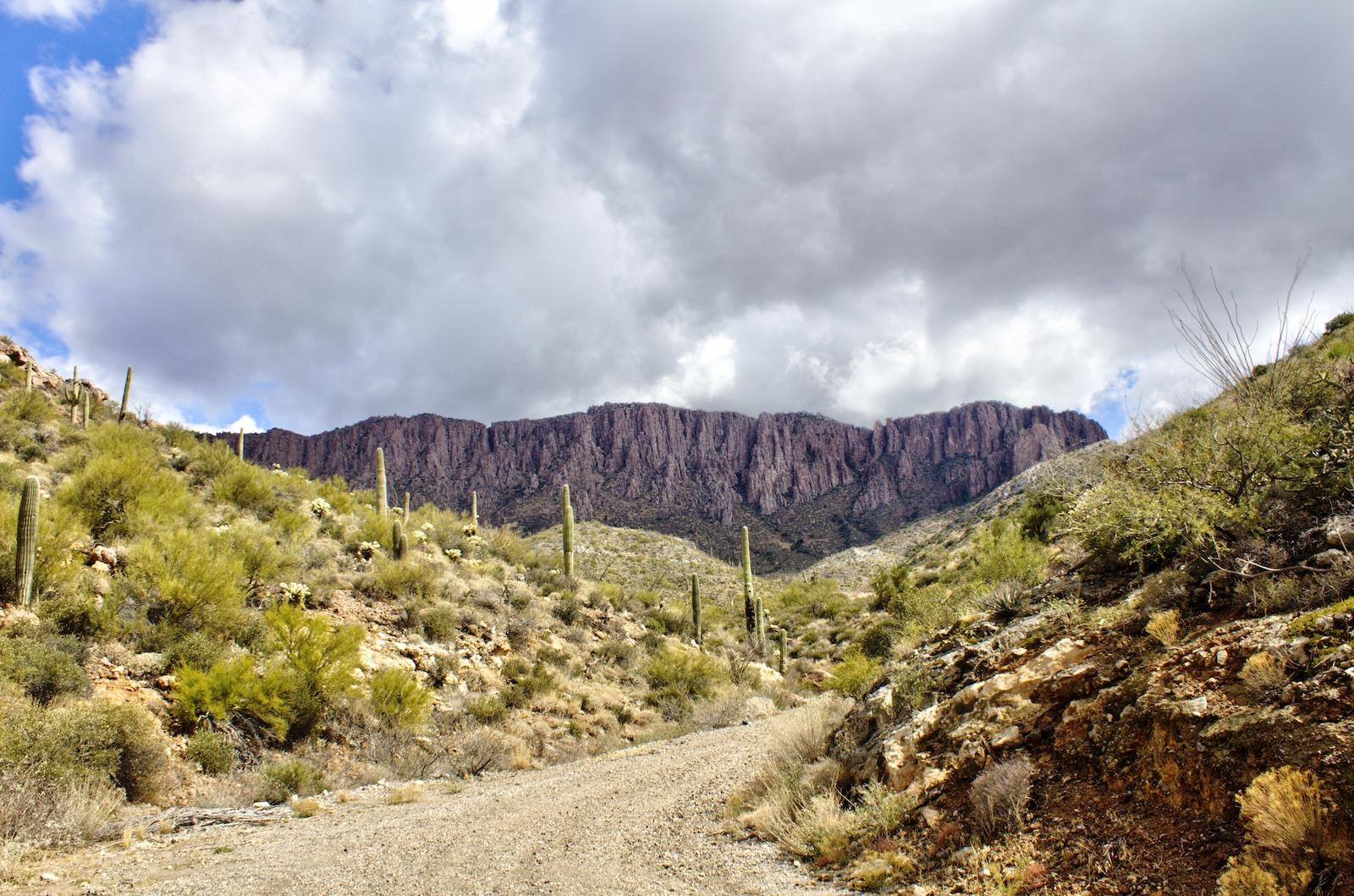 Apache Leap Road in Superior, Arizona