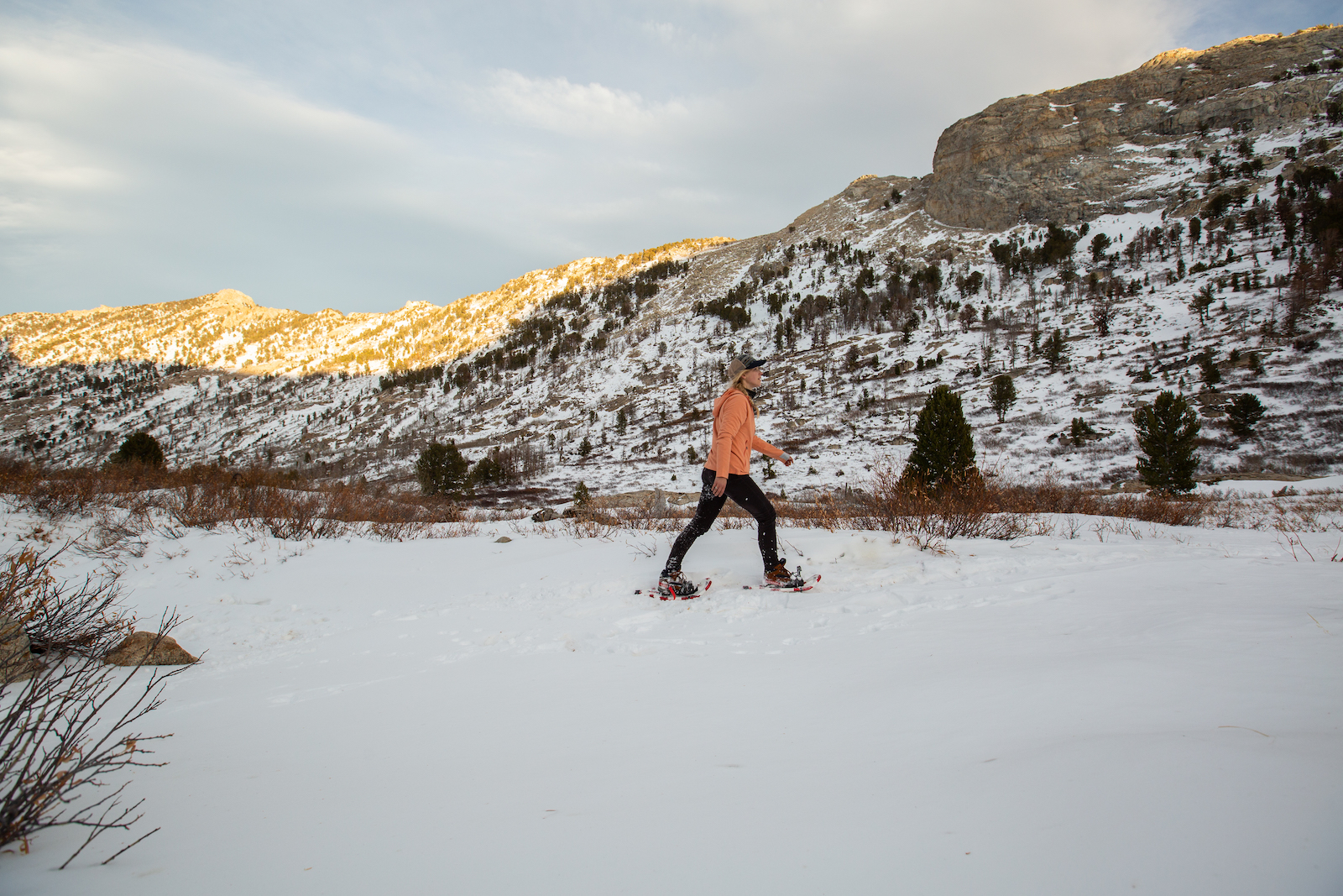 Snowshoeing in Lamoille Canyon in Cowboy Country, Nevada