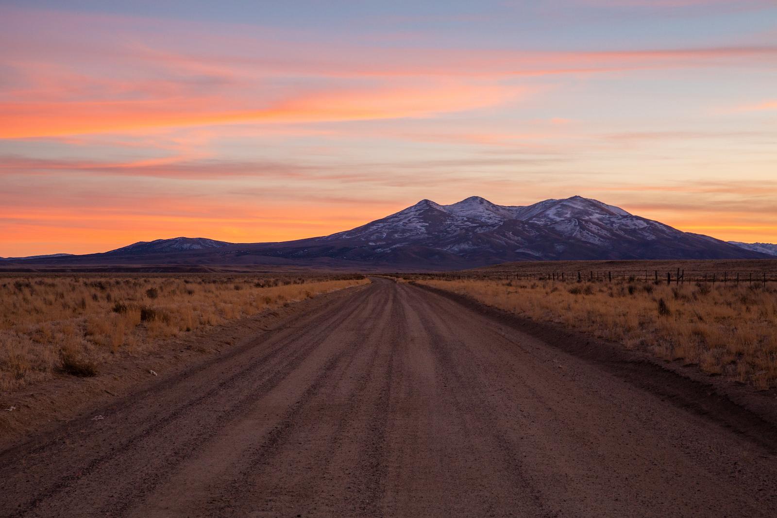 Sunset in Jackpot, Nevada