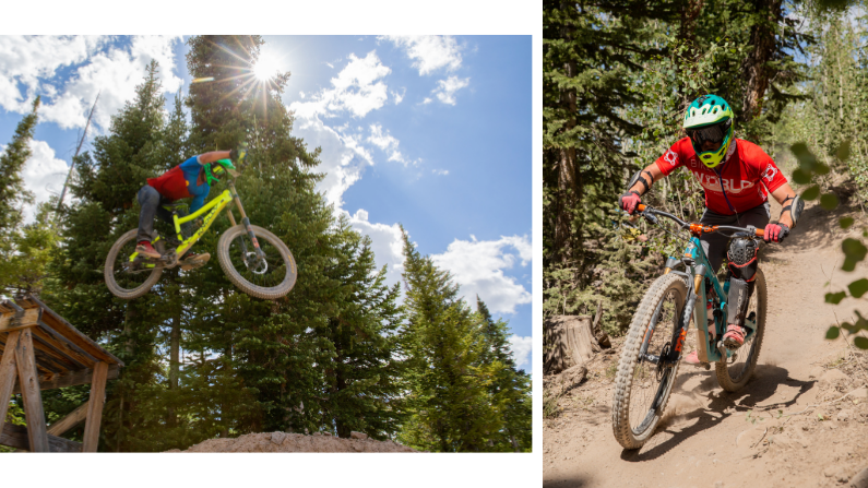 Two downhill biking photos from Brian Head Resort