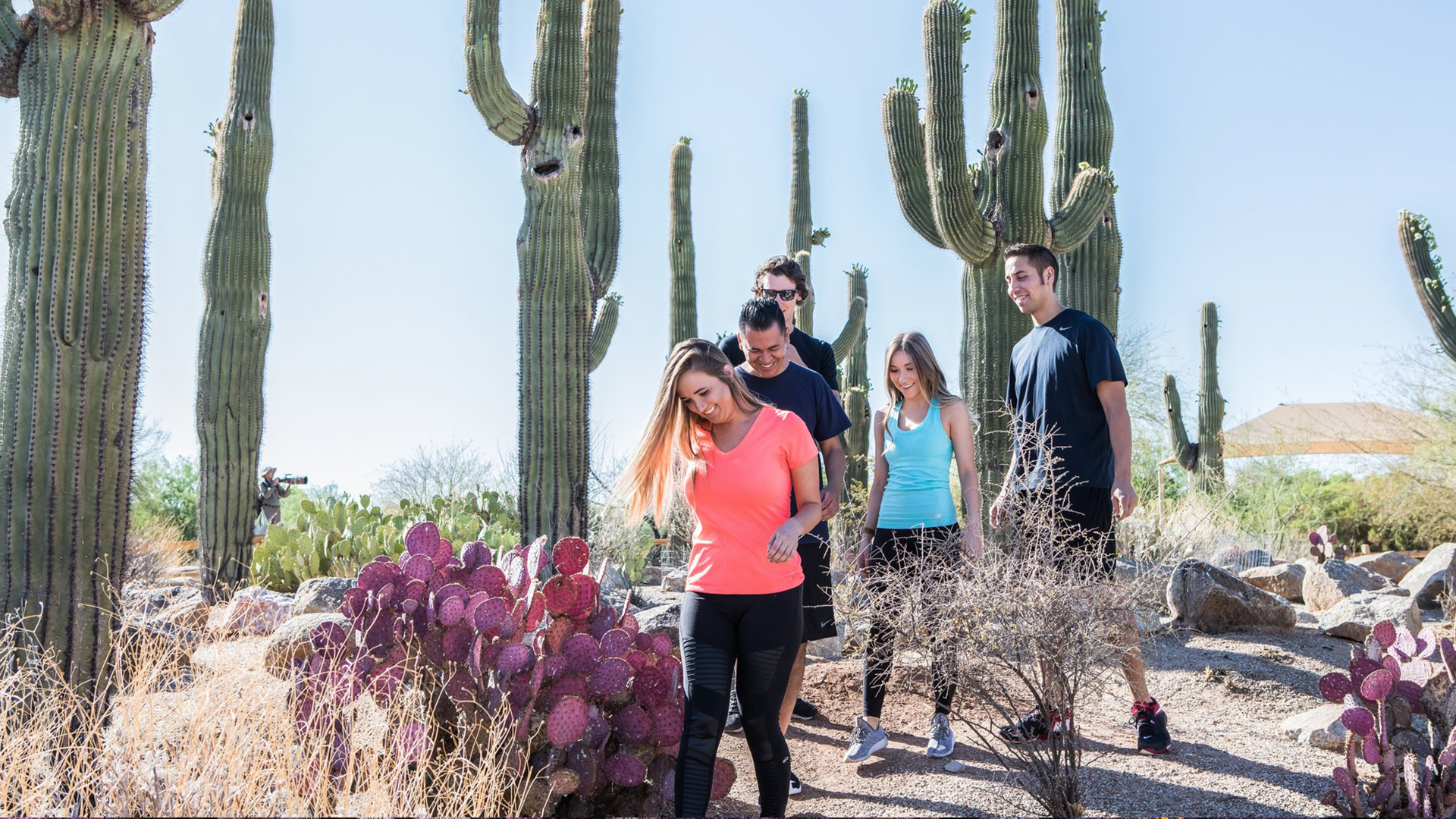 Hikers stay on the trail and leave no trace in Gilbert Arizona