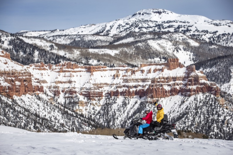 Maria Twitchell - Snowmobiling near Cedar Breaks National Monument-Jay Dash