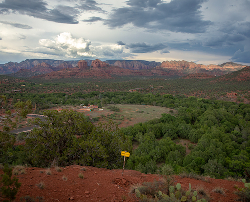 Hiking trail with vista in Red Rock State Park, Arizona
