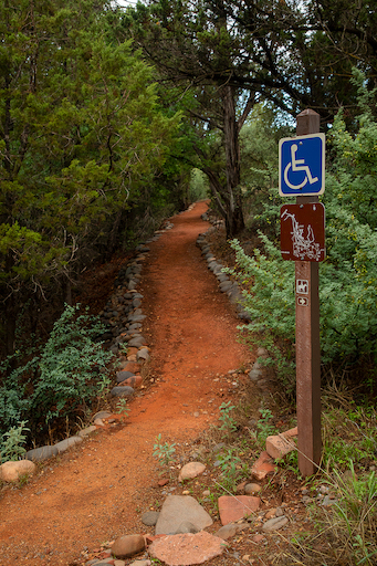 Accessible trail in Red Rock State Park, Arizona
