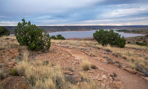 Trail in Lyman Lake State Park, Arizona