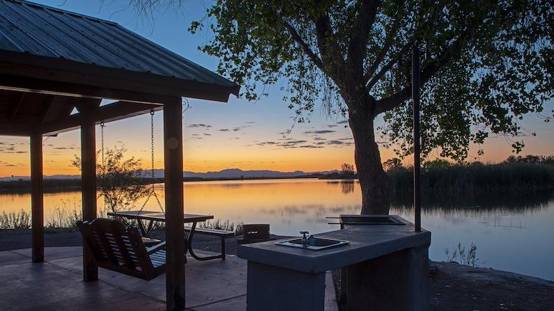 Sunset at Roper Lake State Park, Arizona