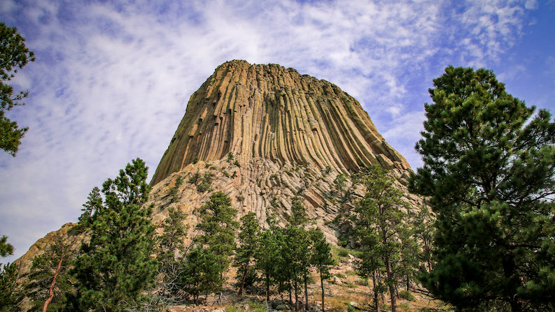 Devils Tower National Monument near Gillette, Wyoming