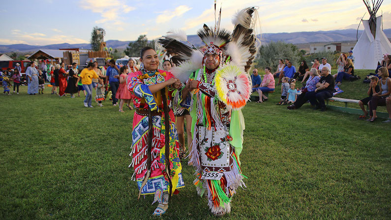 Native American dancers in Wyoming's Wind River Country