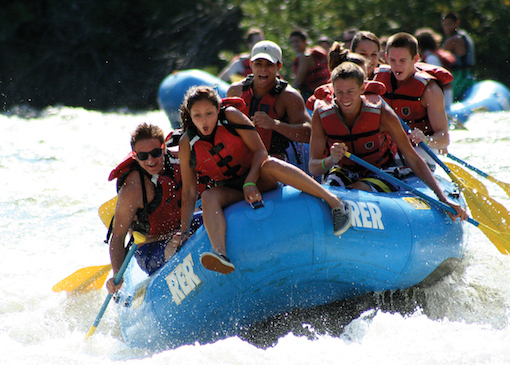 Whitewater rafting in Kern River