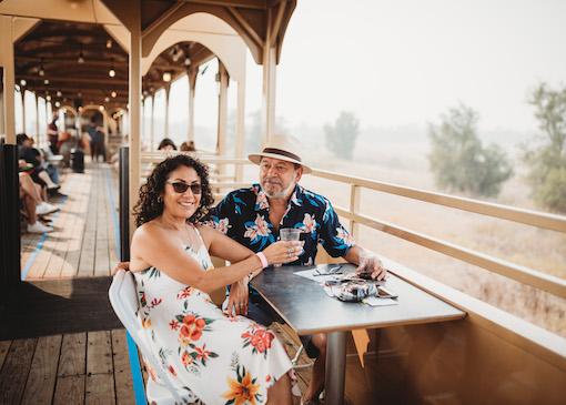 Couple on River Fox Train in California